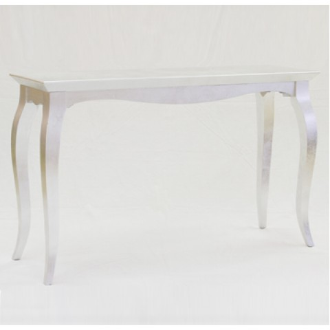 Silver Table with Curved Feet