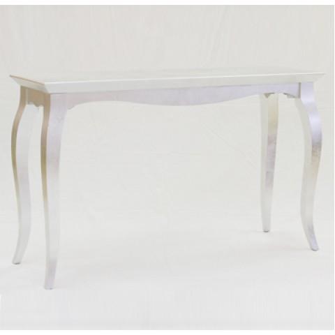 银色弯脚长桌