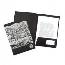梳打熊猫与世遗-环保牛皮纸文件夹 (A4)