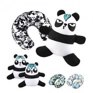 梳打熊猫颈枕