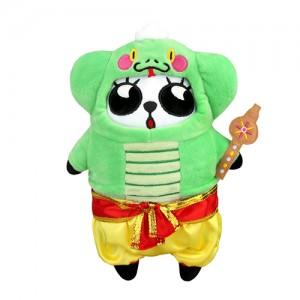 限量版梳打熊猫角色扮演 十二生肖系列公仔(印蛇出动游印度)