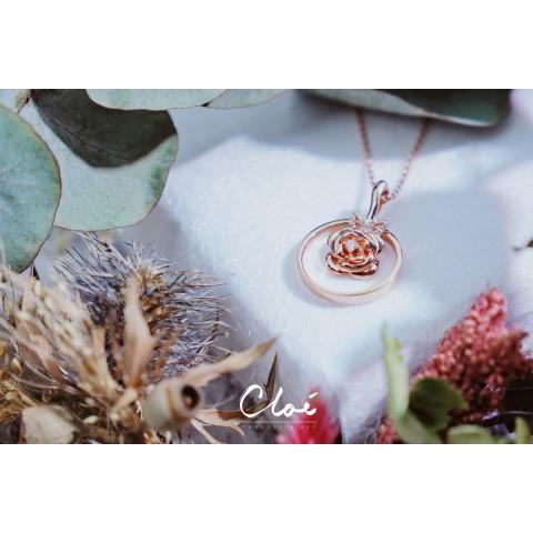 18KYG (Rose) Diamond Pendant