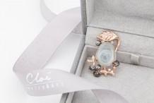 18KRG/BG  Jade&Diamonds  Pendant &Brooch