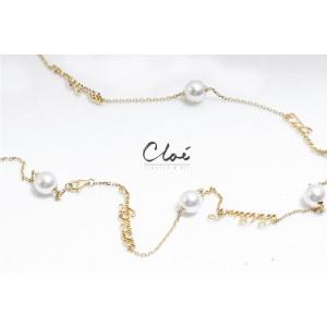 18K黄金 Akoya珍珠 颈链