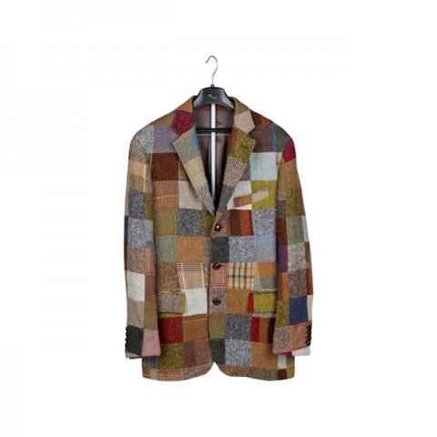 Mixed Color Check Jacket