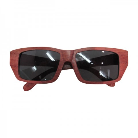 木制眼鏡(深啡長方形黑色鏡片)
