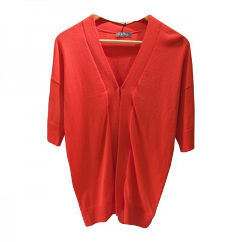 红色短袖罩衫