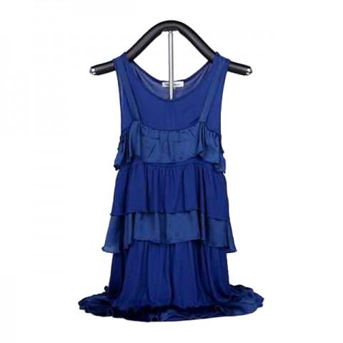 藍色層層連身裙