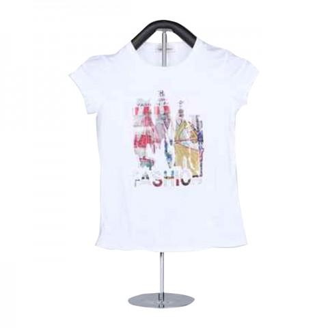 Round neck, short sleeved women's t-shirt ko-205