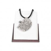 Pendant - Black Braided Leather