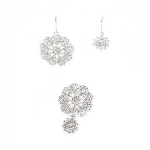 Ring + Earrings Set (Doily)