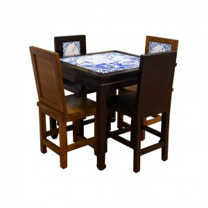 世遺瓷磚畫桌及椅(4椅)
