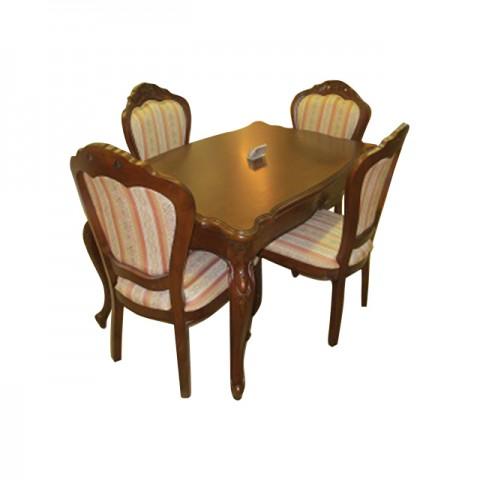 长桌+4张椅子
