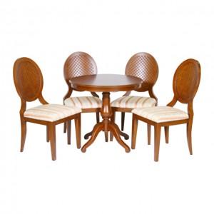 圓卓+4張椅子