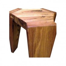 Elm Wood Hexagonal Stool 1b