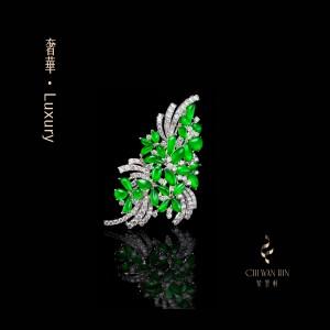 Luxury Series – 'Firework' pendant and brooch