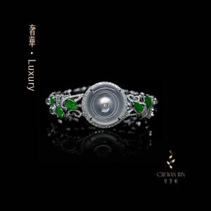 Luxury Series – Designer peace buckle bracelet