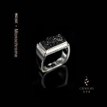昼夜系列·墨翠貔貅戒指