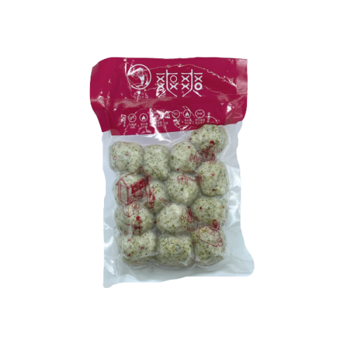 Cuttlefish balls with seaweed
