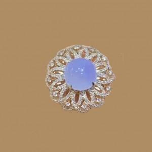Jadeite Series-Natural Burma Jadeite Diamonds Ring Or Pendant