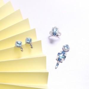 Other Series-Sapphire & Aquamarine Pendant