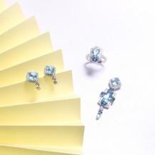 Other Series-Sapphire & Aquamarine Ring