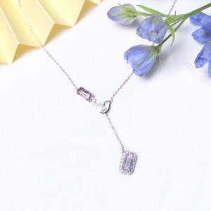 Spinel Series- Spinel Diamonds Necklace