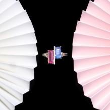 其它系列-蓝宝石&尖晶石钻石戒指-自我型格之红蓝之间(全天然缅甸宝石-无烧)