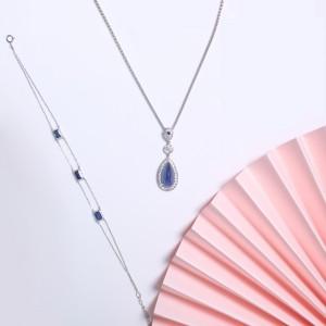 Sapphire Series- Sapphire Diamonds Pendant(All Natural Burma Gem-No Treatment)