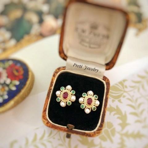 情迷拜占庭 - 18K金、紅寶石、祖母綠、珍珠