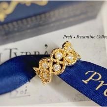 Byzantine - Ouro de 18 quilates, diamente
