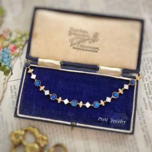Simonetta - 18K gold, diamond, moonstone, mother-of-pearl