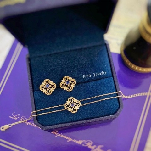 Floris - 18K gold, sapphire, diamond