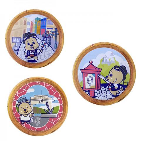 Base cerâmica para copos em formato de cão, base cerâmica para copos em formato de caixa de correio