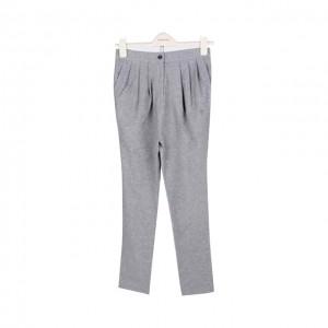 灰色针织哈伦裤