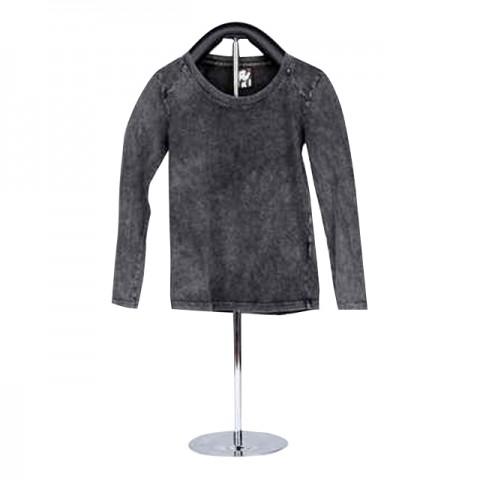 女童裝棉織長袖 T-恤 (灰色童裝)