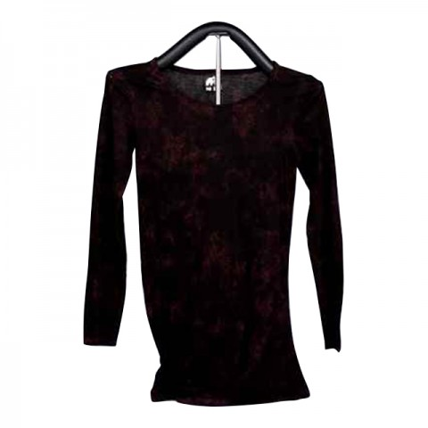 女裝棉織中袖 T-恤 (紫紅)