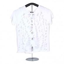 女裝棉織短袖 T-恤 (白色)