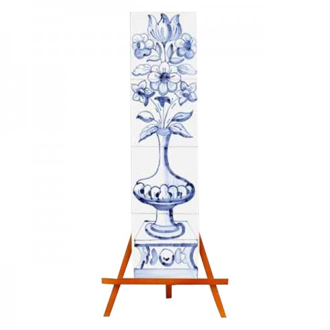 Hand Painted Mural of Azulejo