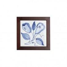 手绘瓷砖方壁画(小) - 啤梨形花