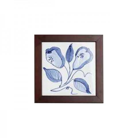 手繪瓷磚方壁畫(小) - 啤梨形花
