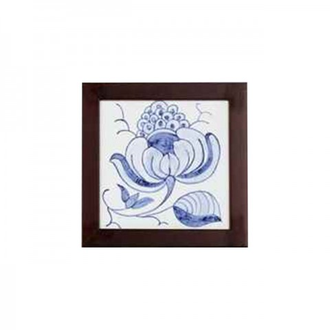 Hand Painted Azulejo (Flowers and Seed)