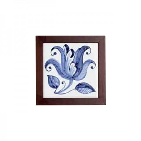 Pintura à Mão em Azulejo (Lírio)