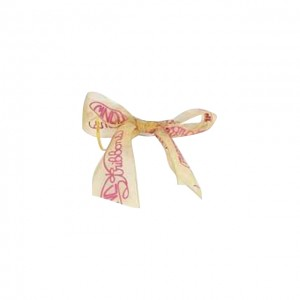 Ribbon Accessories (Gold Ribbon with Pink Color of the Company Logo)