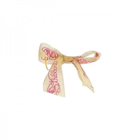 包装丝带 (金色, 粉红色公司logo)