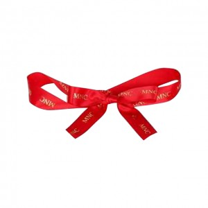 Ribbon Accessories (Red Ribbon with Gold Color of the Company Logo)