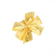 包裝絲帶 (黃色絲帶, 金色公司logo)